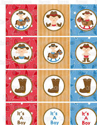 instant download printable cowboy baby shower cupcake toppers