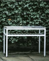 the dominican side table in aluminum by hugh newell jacobsen liz