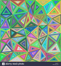 colorful concentric triangle mosaic background stock vector art
