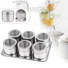 aliexpress com buy 6 pcs set stainless steel magnetic containers