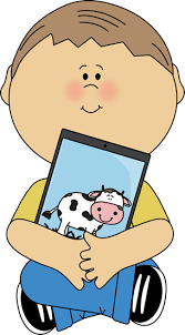 child sitting clipart kid sitting with a tablet kid reading on an ipad image