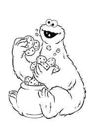 cookie monster coloring pages printable funycoloring