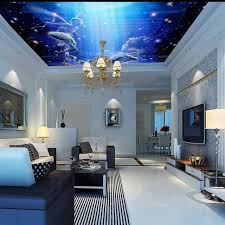 chambre aquarium papier peint 3d personnalisé fantaisie ciel ange poissons volants