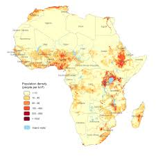 Population Map Population Density Map Of Africa Maps And Maps And Maps Pinterest