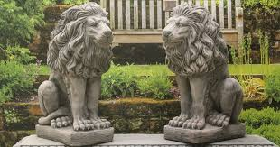 lion garden statue quality lion statues in uk geoffs garden ornaments