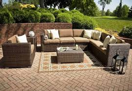 Outdoor Patio Furniture Houston by L Shaped Wicker Patio Furniture Patio Outdoor Decoration