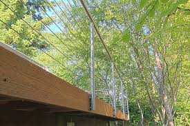 stainless steel cable railing systems round fascia middle post