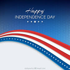 independence day background with us flag vector free