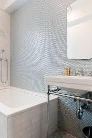 Tiling Bathtub 36 Trendy Penny Tiles Ideas For Bathrooms Digsdigs