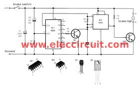 modified brake light flasher circuit electronic projects circuits