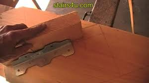 adjusting angle brackets stair stringer lay out youtube