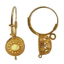 earing design italian granulated gold basket earrings at 1stdibs