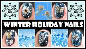 winter holiday nails snowflake christmas stamping nail art