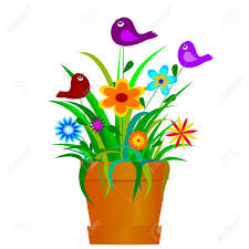 planting flowers cartoon clipart collection