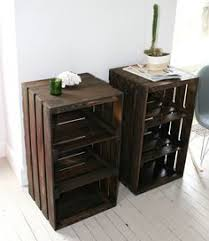 Making Wooden End Tables by Best 25 Milk Crate Furniture Ideas On Pinterest Crate Furniture