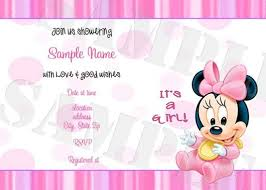 minnie mouse baby shower invitations party invitation ideas