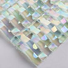 iridescent glass mosaic tile sheets arch kitchen mosaic backsplash