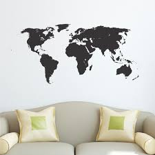 World Map Wall Sticker by World Map Wall Quotes Wall Art Decal Wallquotes Com
