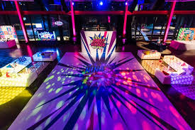 a dj spun in front of a floor that featured the birthday