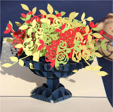 beautiful 3d fold handmade greeting cards with envelope birthday