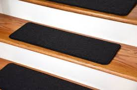 black stair treads and rugs patterns and solids