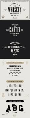 creative font design online the whiskey font collection on behance