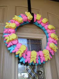 peeps decorations easter peep wreath easter peeps door wreath easter door