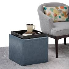 simpli home rockwood denim blue storage ottoman 3axcot 254 dbu
