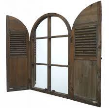 Fenetre Oeil De Boeuf Ovale Miroir Mural Glace Murale Style Ancienne Fenêtre à Volets
