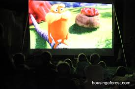 backyard movie night u2013 the lorax housing a forest