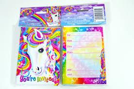 lisa frank rainbow majesty horse party invitations envelopes 8