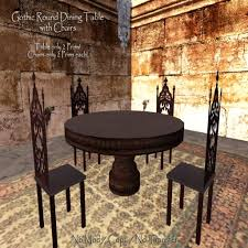 Amazing Gothic Dining Table And Chairs  For Dining Room Design - Gothic dining room table