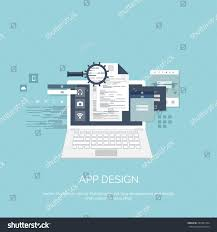 vector illustration app design flat computing stock vector