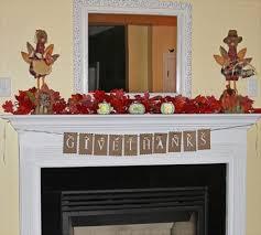 decoración de chimeneas para acción de gracias interiores