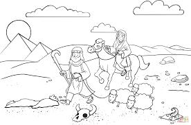 abram sarai traveling egypt coloring free printable