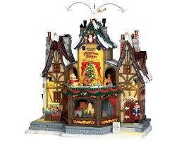 village collection holiday hamlet christmas shoppe with adaptor