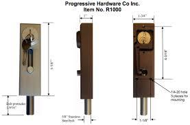 Patio Door Bolt Lock R1000 Revolving Door Sliding Door Drop Bolt Lock By Progressive