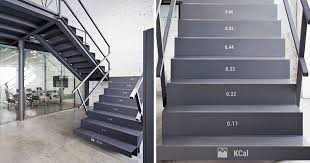 office stairs design these stairs show how many calories you burn while climbing them