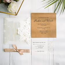 fancy invitations fancy ivory laser cut pocket monogram invitation for wedding
