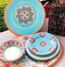 flowers melamine dinnerware collection