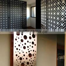 Interior Corrugated Metal Wall Panels Laser Cut Aluminium Decorative Interior Corrugated Metal Wall