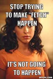 Stop Trying To Make Fetch Happen Meme - image 768914 stop trying to make fetch happen know your meme