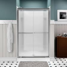 Sterling Frameless Shower Doors Sterling Finesse 47 5 8 In X 70 1 16 In Semi Frameless Sliding
