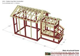 Frame A House by Home Garden Plans S101 Chicken Coop Plans Construction