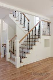 Wood Banisters And Railings Industrial With A Mix Of Comfort For This Wrought Iron Wood
