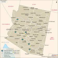 map of the united states with arizona highlighted map usa arizona emaps world