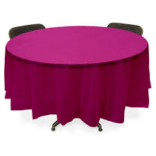 party table covers plastic table cover fuschia