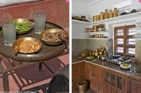 bar cuisine bois tabouret de bar en cuir marron foncé comptoir gris mat lisse