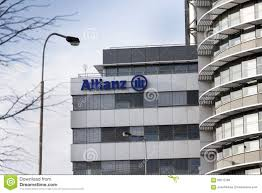 allianz siege financial and insurance allianz logo on the building of the