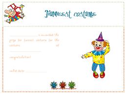 funniest costume award certificate template certificate templates